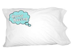 Dreaming of Horse Racing - Blue Novelty Bedding Pillowcase Pillow Case