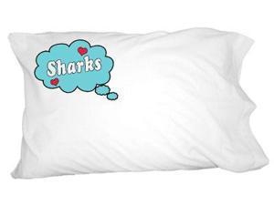 Dreaming of Sharks - Blue Novelty Bedding Pillowcase Pillow Case