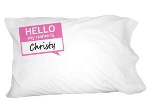 Christy Hello My Name Is Novelty Bedding Pillowcase Pillow Case