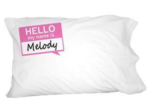 Melody Hello My Name Is Novelty Bedding Pillowcase Pillow Case