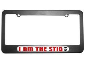 I Am The Stig License Plate Tag Frame