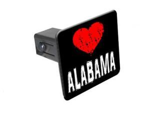"Alabama Love - 1 1/4 inch (1.25"") Tow Trailer Hitch Cover Plug Insert"