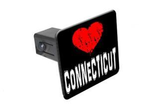 "Connecticut Love - 1 1/4 inch (1.25"") Tow Trailer Hitch Cover Plug Insert"