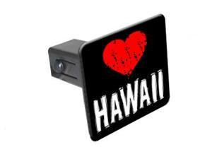 "Hawaii Love - 1 1/4 inch (1.25"") Tow Trailer Hitch Cover Plug Insert"