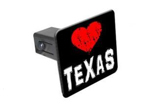 "Texas Love - 1 1/4 inch (1.25"") Tow Trailer Hitch Cover Plug Insert"