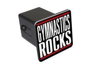"Gymnastics Rocks - 2"" Tow Trailer Hitch Cover Plug Insert"