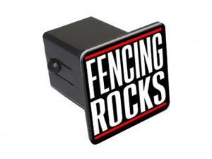 "Fencing Rocks - 2"" Tow Trailer Hitch Cover Plug Insert"