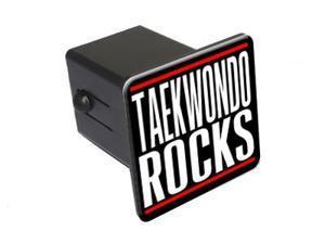 "Taekwondo Rocks - 2"" Tow Trailer Hitch Cover Plug Insert"