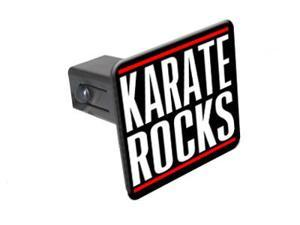 """Karate Rocks - 1 1/4 inch (1.25"""") Tow Trailer Hitch Cover Plug Insert"""