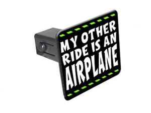 """My Other Ride Is An Airplane - Pilot - 1 1/4 inch (1.25"""") Tow Trailer Hitch Cover Plug Insert"""
