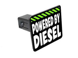 """Powered By Diesel - 1 1/4 inch (1.25"""") Tow Trailer Hitch Cover Plug Insert"""