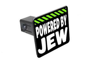 """Powered By Jew - 1 1/4 inch (1.25"""") Tow Trailer Hitch Cover Plug Insert"""