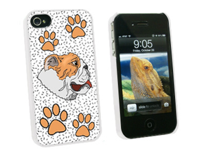 Bulldog of Radiance - Snap On Hard Protective Case for Apple iPhone 4 4S - White