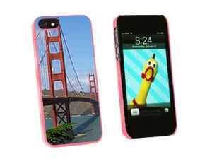 Golden Gate Bridge San Francisco CA California - Snap On Hard Protective Case for Apple iPhone 5 - Pink