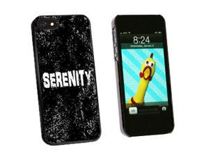 Serenity Distressed Inspirational - Snap On Hard Protective Case for Apple iPhone 5 - Black