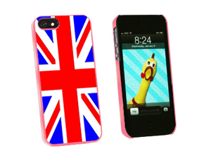 United Kingdom Great Britain Flag - Snap On Hard Protective Case for Apple iPhone 5 - Pink
