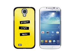 Peace Love Music - Snap On Hard Protective Case for Samsung Galaxy S4 - Black