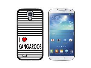 I Love Heart Kangaroos - Snap On Hard Protective Case for Samsung Galaxy S4 - Black