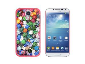 Board Game Gaming Dice - Snap On Hard Protective Case for Samsung Galaxy S4 - Pink