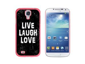 Live Laugh Love Distressed Inspirational - Snap On Hard Protective Case for Samsung Galaxy S4 - Pink