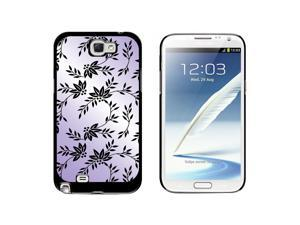 Power of Flowers Purple - Snap On Hard Protective Case for Samsung Galaxy Note II 2 - Black