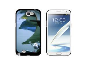 Boats and Seagull - Snap On Hard Protective Case for Samsung Galaxy Note II 2 - Black