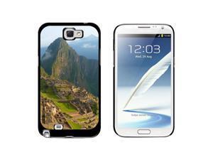 Machu Picchu Inca City Ruins in Cusco Peru - Snap On Hard Protective Case for Samsung Galaxy Note II 2 - Black
