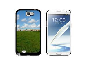 Flock of Sheep - Counting - Snap On Hard Protective Case for Samsung Galaxy Note II 2 - Black