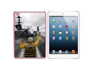 Aircraft Carrier Launch Snap On Hard Protective Case for Apple iPad Mini - Pink - OEM