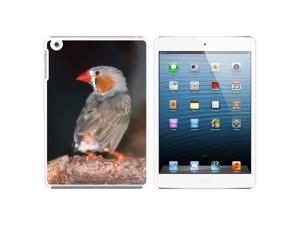 Australian Zebra Finch - Bird Snap On Hard Protective Case for Apple iPad Mini - White - OEM