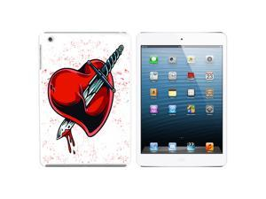 Stabbed In The Heart - Wounded Love Divorce Break-up Snap On Hard Protective Case for Apple iPad Mini - White - OEM