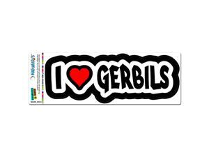 I Love Heart Gerbils MAG-NEATO'S™ Automotive Car Refrigerator Locker Vinyl Magnet