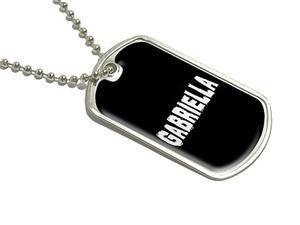 Gabriella - Name Military Dog Tag Luggage Keychain