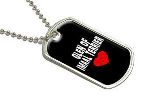 Glen of Imaal Terrier Love - Black - Military Dog Tag Luggage Keychain