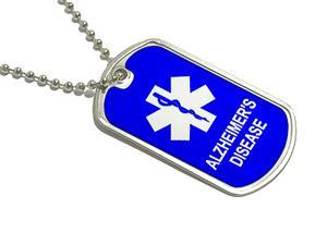 Alzheimer's Disease - Military Dog Tag Keychain