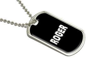 Roger - Name Military Dog Tag Luggage Keychain