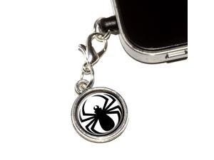 Spider Black - Widow Universal Fit 3.5mm Earphone Headset Jack Charm Anti-Dust Plug fits Mobile Cell Phone iPhone iPod iPad Galaxy