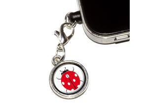 Ladybug Universal Fit 3.5mm Earphone Headset Jack Charm Anti-Dust Plug fits Mobile Cell Phone iPhone iPod iPad Galaxy