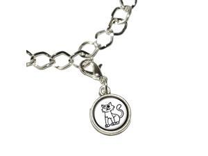 Zombie Family Cat Silver Plated Bracelet with Antiqued Charm