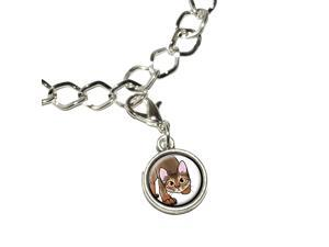 Abyssinian Cat - Pet Silver Plated Bracelet with Antiqued Charm