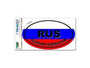 Russian Federation Country Flag - RUS Euro Oval Flag MAG-NEATO'S™ Automotive Car Refrigerator Locker Vinyl Magnet