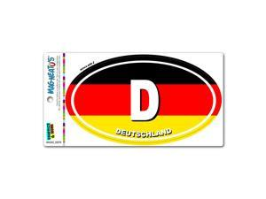 Deutschland Germany Country Flag - D Euro Oval German Flag MAG-NEATO'S™ Automotive Car Refrigerator Locker Vinyl Magnet