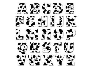 Alphabet Letters Uppercase Cow Print Animals MAG-NEATO'S(TM) Novelty Gift Locker Refrigerator Vinyl Magnet Set