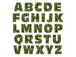 Alphabet Letters Uppercase Peacock Print Animals MAG-NEATO'S(TM) Novelty Gift Locker Refrigerator Vinyl Magnet Set