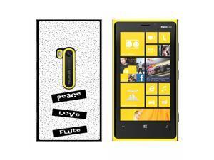 Peace Love Flute - Snap On Hard Protective Case for Nokia Lumia 920