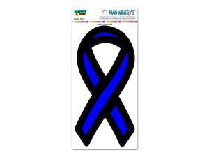 The Thin Blue Line Ribbon Support Ribbon - Police Law Enforcement MAG-NEATO'S(TM) Automotive Car Refrigerator Locker Vinyl Magnet