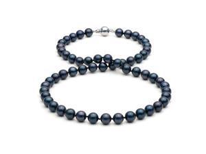 "16"" Black Akoya Pearl Ncklace: 6.0-6.5mm - AA+"