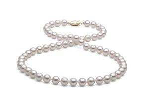 "18"" Akoya Pearl Necklace: 6.0-6.5mm AAA"
