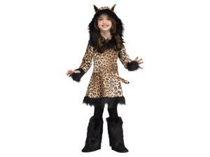 Natural Leopard Print Little Girls Costume