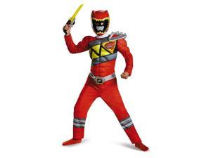 Red Power Ranger Dino Charge Boys Muscle Costume Halloween Rangers